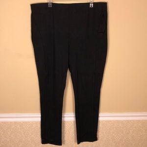 LANE BRYANT Black Knit Pants Size 28Long